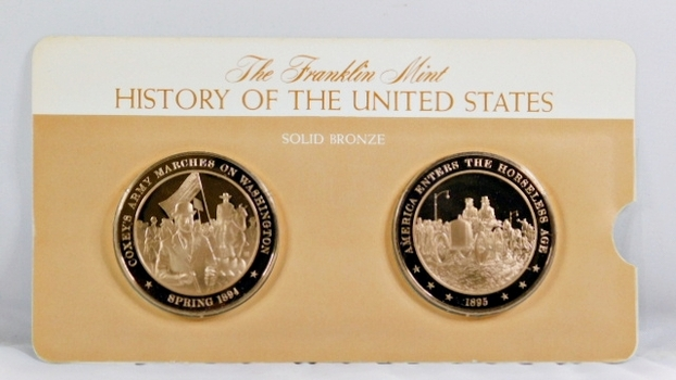 Solid Bronze Commemoratives - Coxey's Army Marches on Washington, 1894 & America Enters Horseless Age, 1895