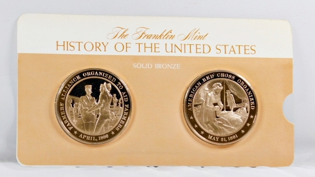 Solid Bronze Commemoratives - Farmers' Alliance Organized to Aid Farmers, 1880 & American Red Cross Organized, 1881