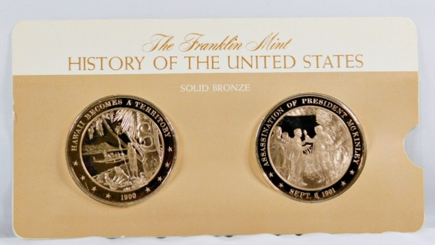 Solid Bronze Commemoratives - Hawaii Becomes a Territory, 1900 & Assassination of President McKinley, 1901