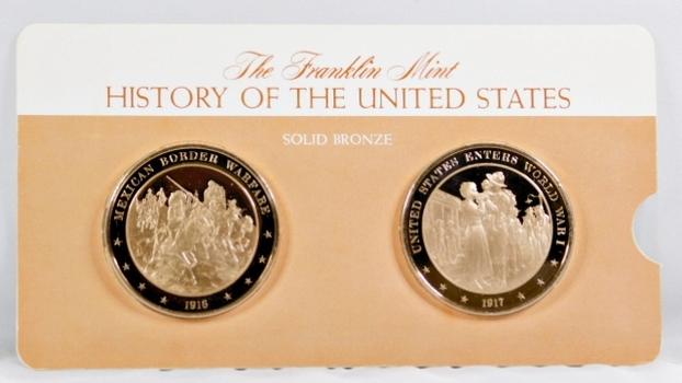Solid Bronze Commemoratives - Mexican Border Warfare, 1916 & United States Enters World War I, 1917