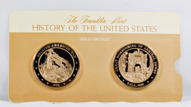 Solid Bronze Commemoratives - Spanish/American War, 1898 & Great Homecoming of Admiral Dewey, 1899