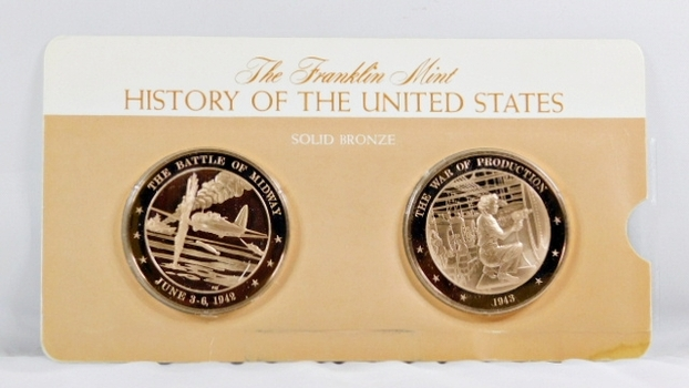 Solid Bronze Commemoratives - The Battle of Midway, 1942 & The War of Production, 1943