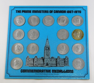 The Prime Ministers Of Canada 1867-1970 15 Medals