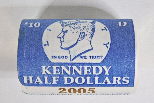Unopened $10 US Mint Roll of 2005-D Kennedy Half Dollars