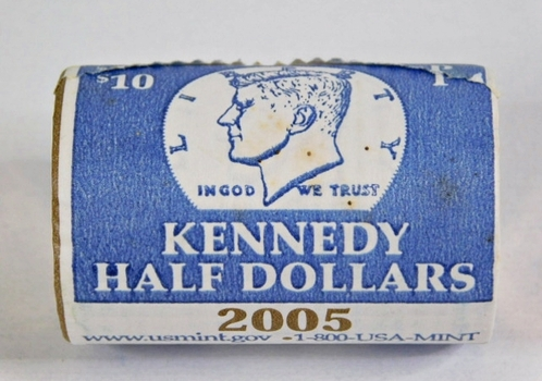 Unopened $10 US Mint Roll of 2005-P Kennedy Half Dollars
