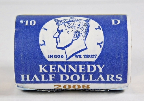 Unopened $10 US Mint Roll of 2008-D Kennedy Half Dollars