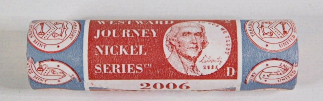 Unopened $2 US Mint Roll of 2006-D Return to Monticello Commemorative Nickels