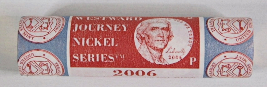 Unopened $2 US Mint Roll of 2006-P Return to Monticello Commemorative Nickels