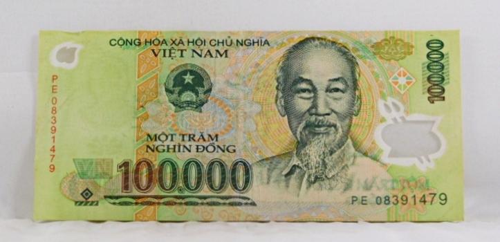 Vietnam 100.000 Dongs Bank Note