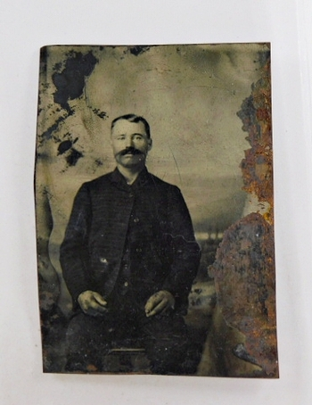 Vintage Tintype of an Unknown Subject