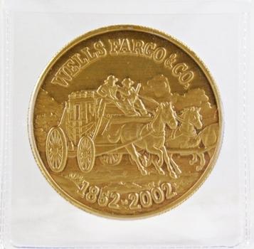 Wells Fargo & Co. Bronze Medallion*1862-2002*150th Anniversary