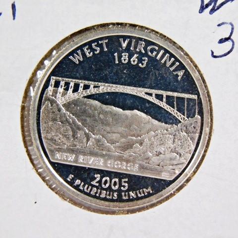 2005 S West Virginia Mint Silver Proof ~ Statehood Quarter from U.S Proof Set