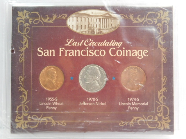 Last Circulating San Francisco Minted Coinage Collection w