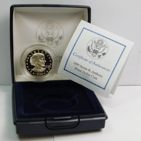 Anthony Dollar Proof with Box and COA 1999-P Susan B