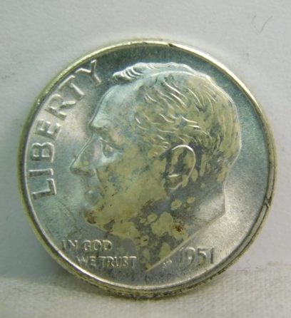 Key date 1951 S US Roosevelt Dime Silver Coin