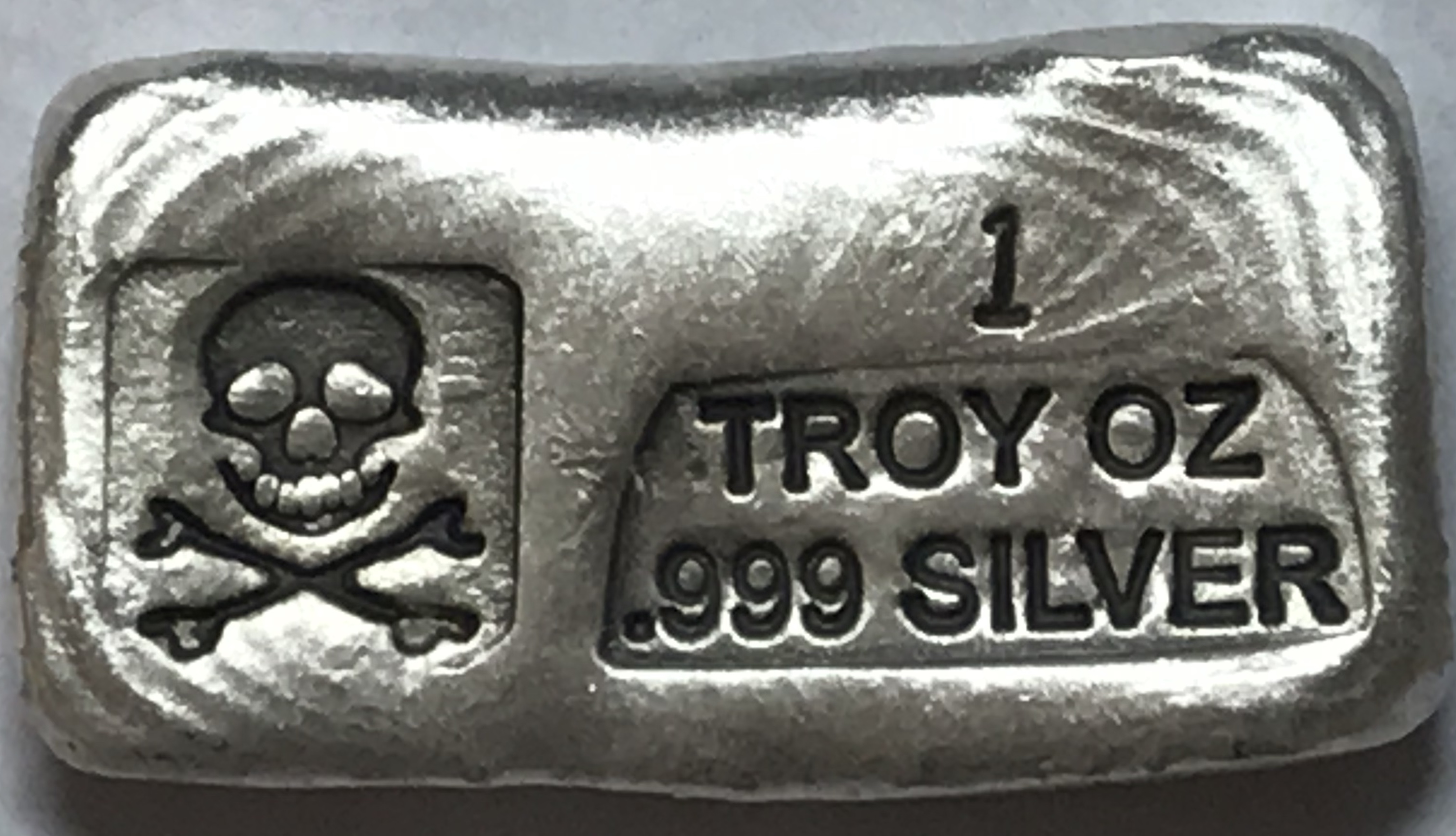 Silver Skull /& Crossbones .999 Fine Bar One Gram