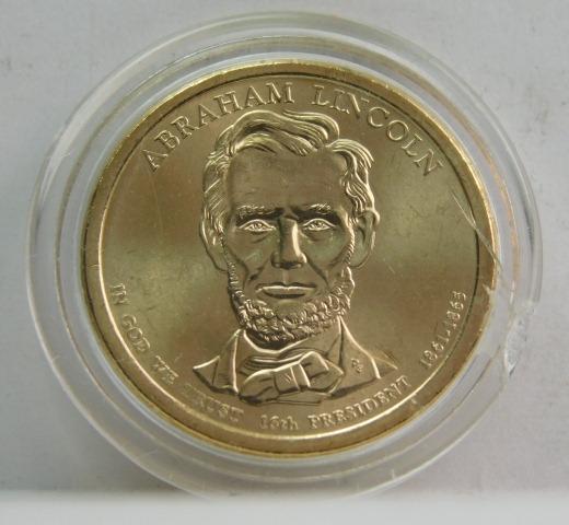 2010  Abraham Lincoln Presidential Dollar Unirculated