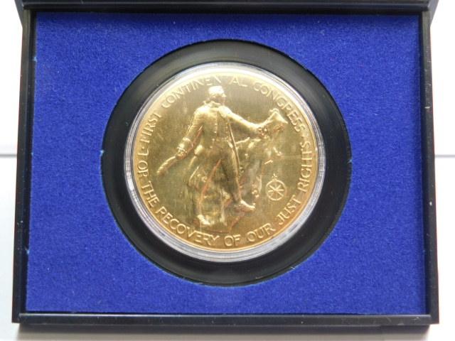 1974 American Revolution Bicentennial Commemorative Medal John Adams