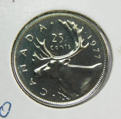 Canada 1977 Proof Like Twenty-Five Cent Piece!!