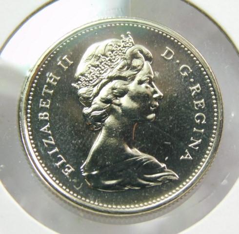 1975 CANADA 1¢ BRILLIANT UNCIRCULATED PENNY COIN