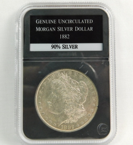 Sharp Uncirculated 1882 CC Morgan Dollar
