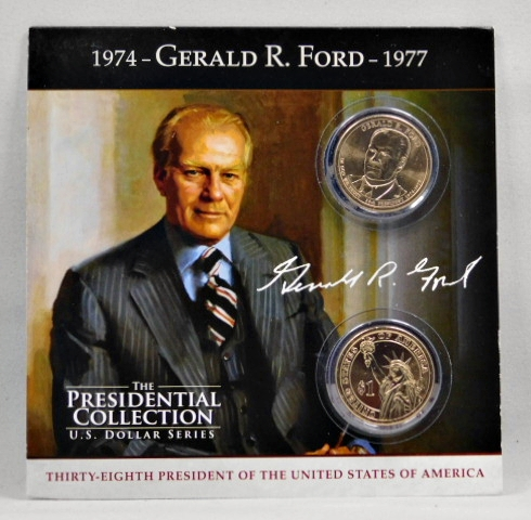 2016-D GERALD FORD PRESIDENTIAL DOLLAR FROM MINT ROLLS UNCIRCULATED