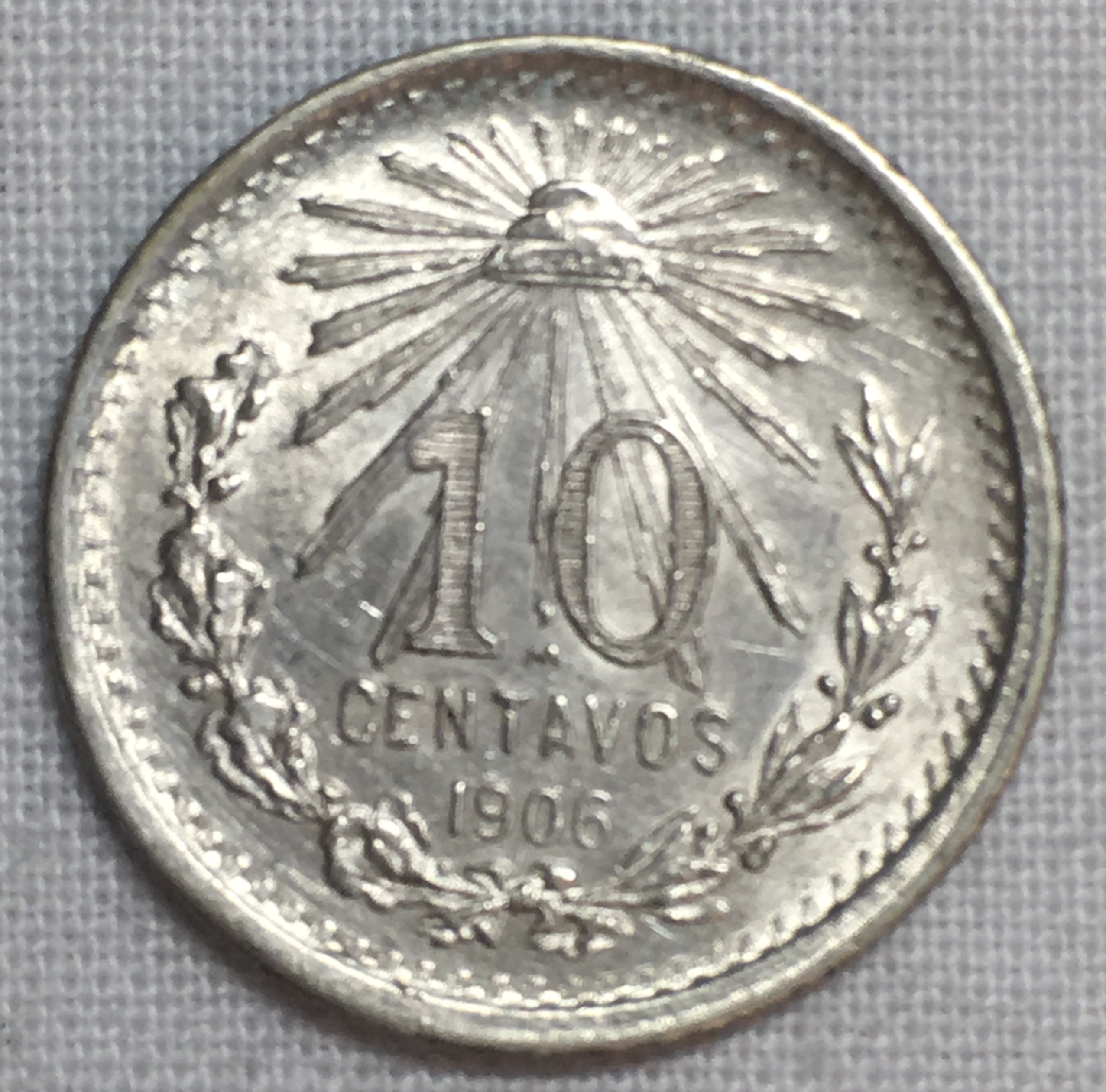 Coins Mexico 10 Cent Silver Coin 1906 North & Central America