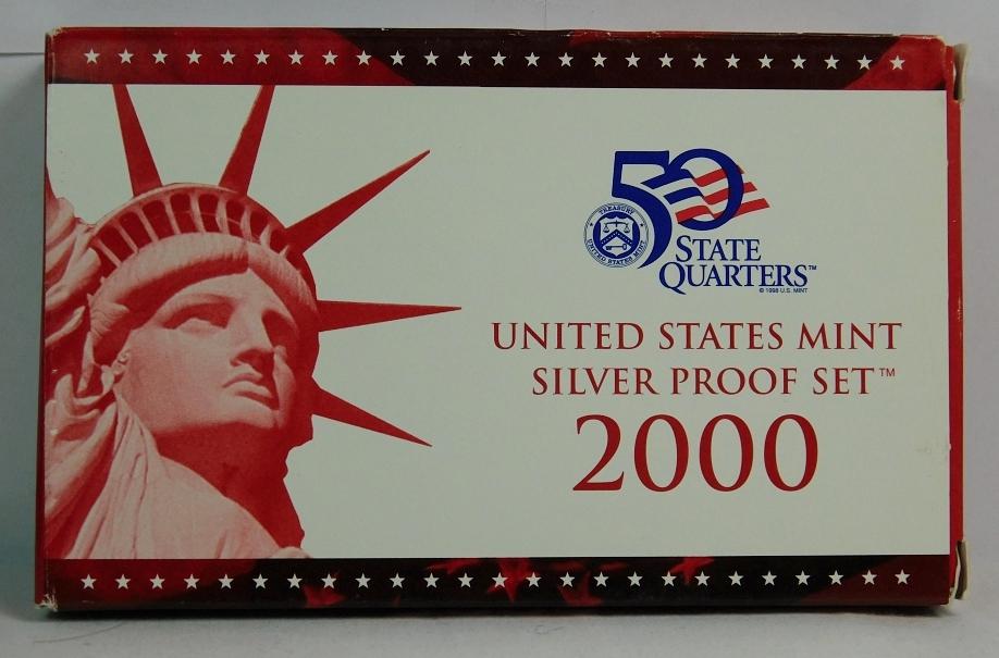 2000 United States Mint Proof Quarter Set in Original Box 1