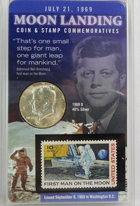 1969-D Brilliant Uncirculated 40% Silver Kennedy Half Dollar - In