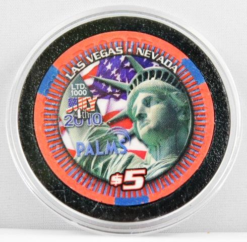 Palms Casino Las Vegas $5 Playboy Bunny 2002 Casino Chip Uncirculated//Mint