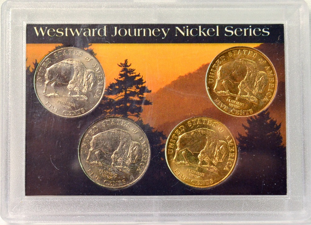 2005 Westward Journey Nickel Series 4 Uncirculated Coins In A Whitman Holder