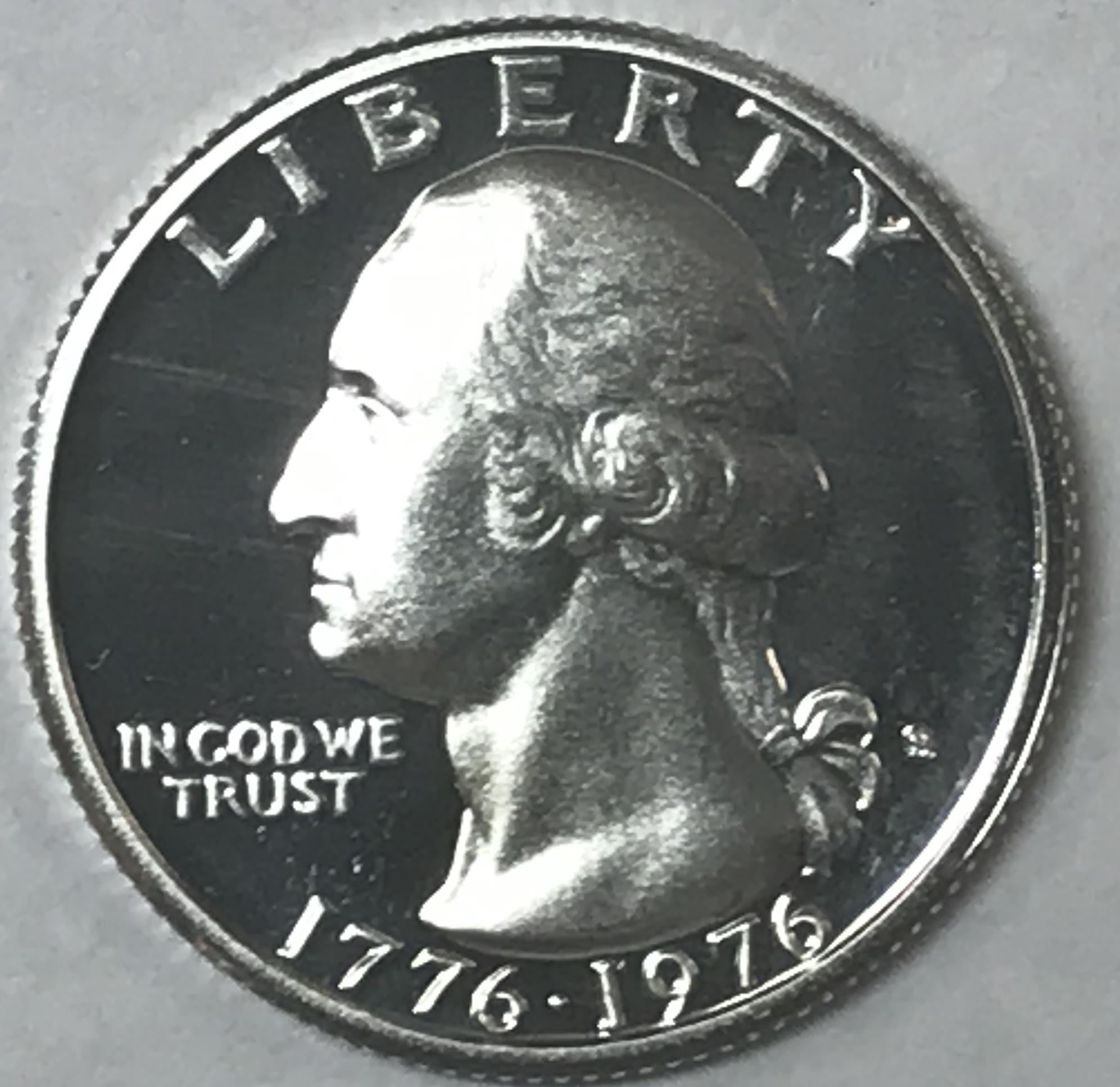 40/% SILVER Bicentenial 1976 S PROOF Washington Quarter Dollar Deep Cameo !