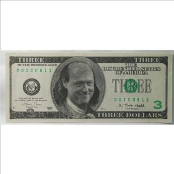 three dollar 3 bill clinton fantasy note property room