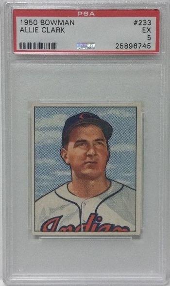 1950 Bowman # 233 Allie Clark PSA 5
