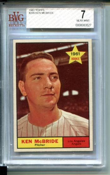 1961 Topps #209 Ken Mcbride BVG 7