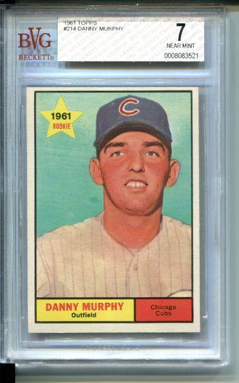 1961 Topps #214 Danny Murphy BVG 7