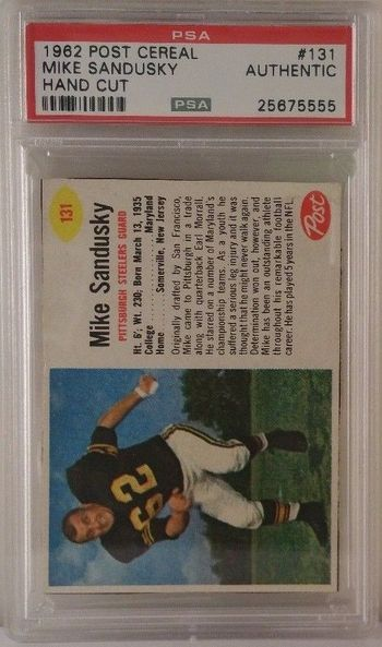 1962 Post Cereal # 131 Mike Sandusky PSA Authentic