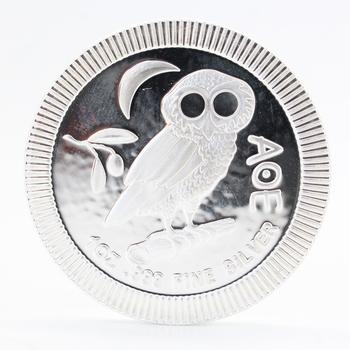 1 oz .999 Fine Silver Athenian Owl Round