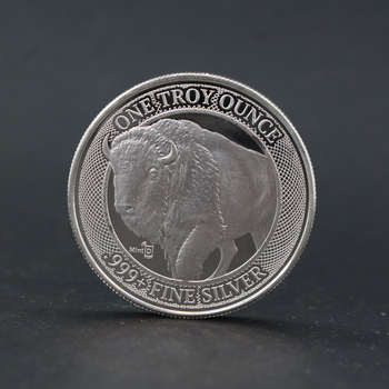 1 Troy Oz .999+ Fine Silver Mint ID Micro Chip Buffalo Round