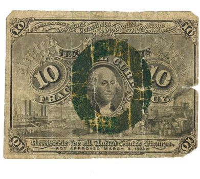 10 Cent Fractional Currency Small Note Act Approved March 3, 1863 2nd Issue