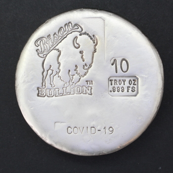 10 Troy Oz .999 Fine Silver Covid-19 Round