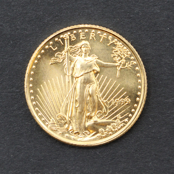 1/10 Oz. Fine Gold Double Eagle 5 Dollar Coin