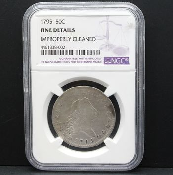1795 50c Liberty Fine Details NGC Improperly Cleaned