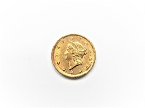 1854 $1 GOLD Dollar AU Liberty Head (19)