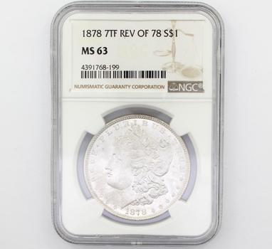 1878 7TF REV OF 78 Morgan Silver $1 MS63 NGC (199)
