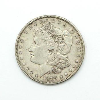 1878 -P Morgan Silver Dollar VG w/ Rim Dent
