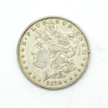 1879-O Morgan Silver Dollar VG Rim Ding