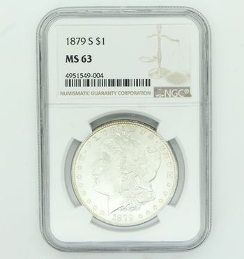 1879-S NGC MS63 Silver Morgan Dollar