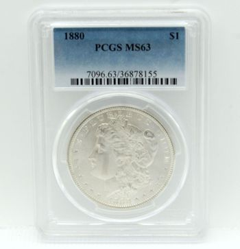 1880 Morgan Silver Dollar PCGS MS63