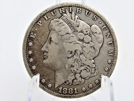 1881 Silver Morgan Dollar (009)